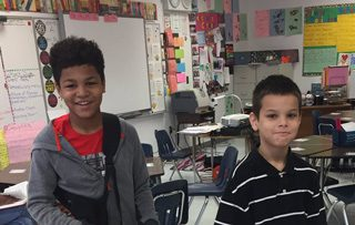 two students at Winchester Elementary