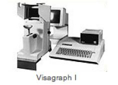Visagraph 1 instrument for measuring eye movement while reading