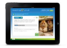 Reading Plus Program on and iPad tablet